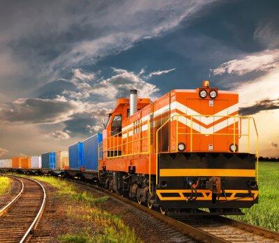 Carta da parati treno merci