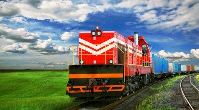 Carta da parati Treno merci con lo spazio per il testo