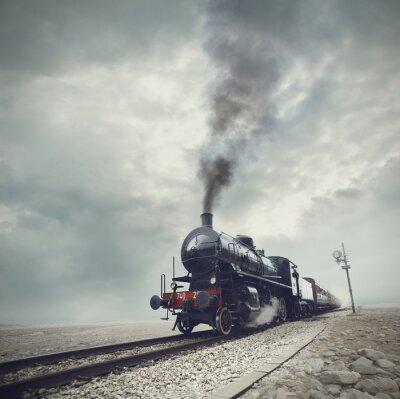 Carta da parati treno nero