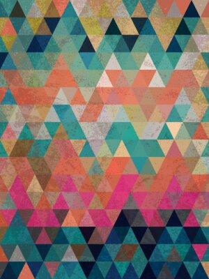 Carta da parati Triangoli colorati con sfondo stile antico