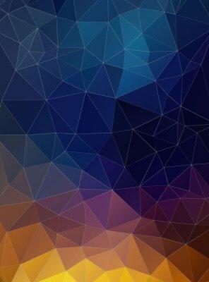 Carta da parati Triangolo piano geometrico sfondo colorato