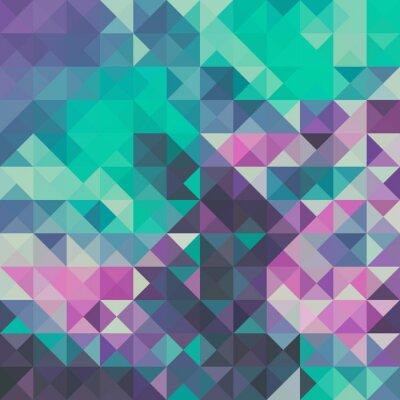 Carta da parati Triangolo sfondo, verde e viola