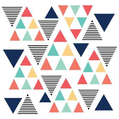 Carta da parati Triangolo variazione di colore del modello