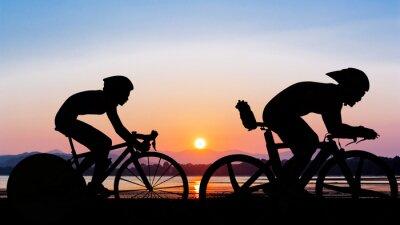 Carta da parati Triathlon at the beach evening time