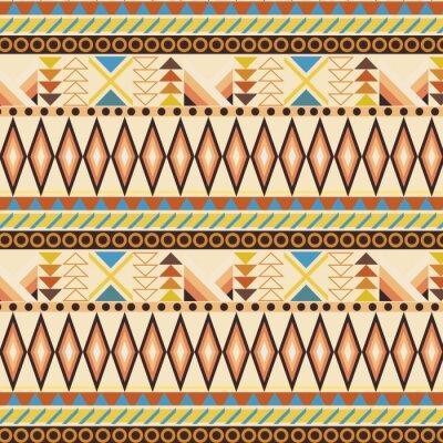 Carta da parati Tribal ethnic seamless stripe pattern. swatches included.