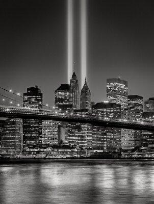 Carta da parati Tribute in Light, 11 settembre Commemorazione, New York City