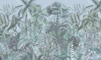 Carta da parati Tropical forest, jungle, blue