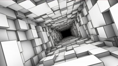 Carta da parati tunnel