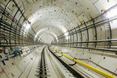 Carta da parati tunnel della metropolitana