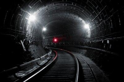 Carta da parati tunnel della metropolitana di Kiev
