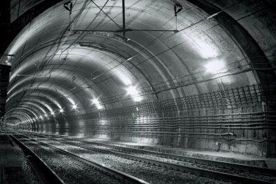 Carta da parati tunnel della metropolitana Vuoto