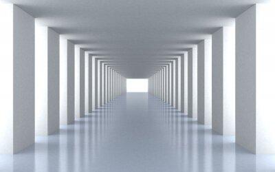 Carta da parati Tunnel di luce bianca