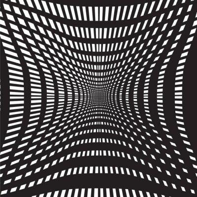 Carta da parati tunnel nero e bianco astratto