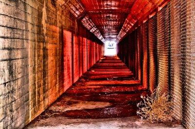 Carta da parati tunnel rosso
