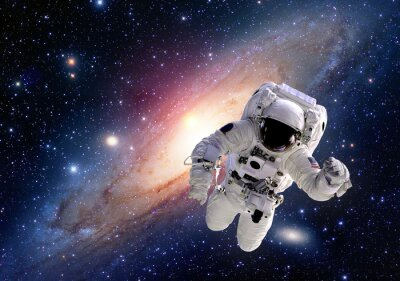 Carta da parati Tuta astronauta Astronauta spazio esterno gente del sistema solare nell'universo. Elementi di questa immagine fornita dalla NASA.