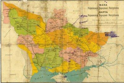 Carta da parati Ucraina vintage map
