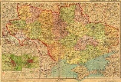 Carta da parati Ucraino annata mao SSR.
