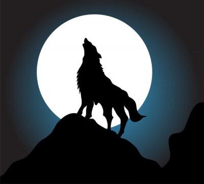Carta da parati Ululato del lupo sfondo