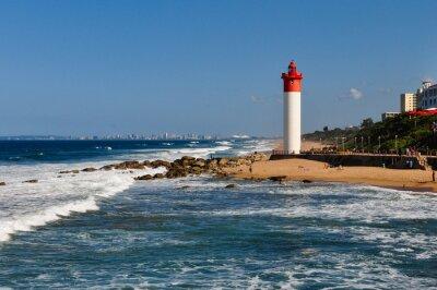 Carta da parati Umhlanga Leuchtturm mit als Durban Hintergrund; Südafrika