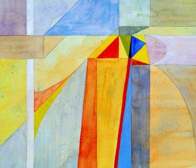 Carta da parati un acquerello pittura astratta