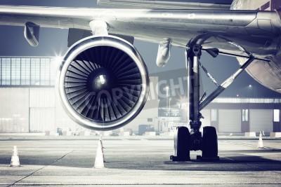 Carta da parati un dettaglio aereo a turbina