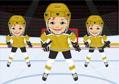 Carta da parati Un giovane squadra di hockey in uniforme