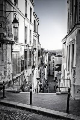 Carta da parati Un po 'di strada a Montmartre di Parigi, Francia