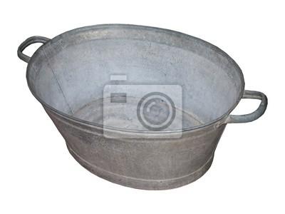 Vasca Da Bagno Metallo : Un tin vasca da bagno vecchio metallo zincato carta da parati