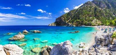 Carta da parati una delle più belle spiagge della Grecia - Apella, Karpathos