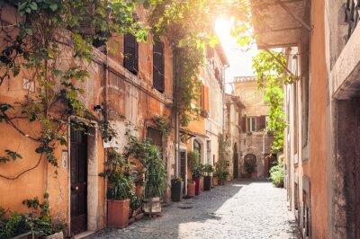 Carta da parati Una strada pittoresca a Roma, Italia