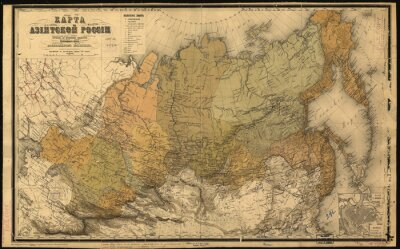 Carta da parati Unione Sovietica, URSS, mappa