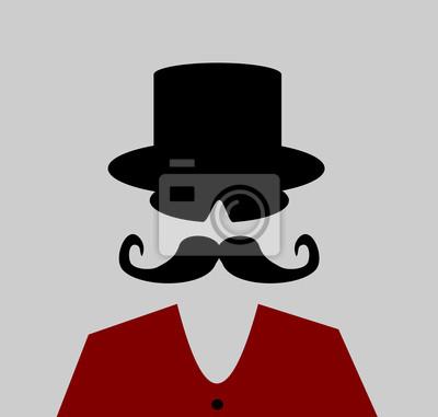 Uomo con grandi baffi e cappello a cilindro carta da parati • carte ... bbd64a2266b6
