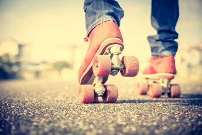 Carta da parati Uomo freddo con le scarpe di pattinaggio