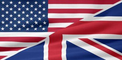 Carta da parati USA - UK - Flagge