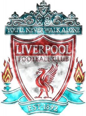 Carta da parati Usato distintivo di FC Liverpool