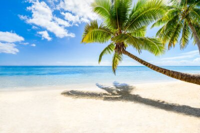 Carta da parati Vacanze in spiaggia su un'isola deserta in mare