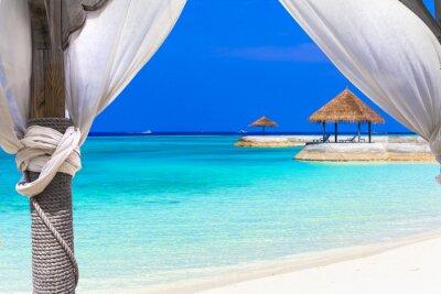 Carta da parati vacanze rilassanti in paradiso tropicale