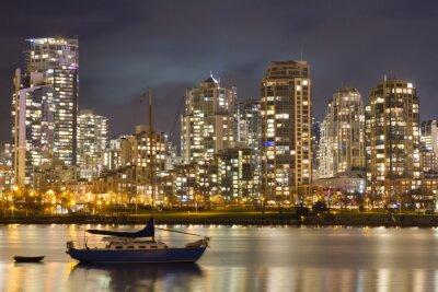 Carta da parati Vancouver Skyline e barche a vela