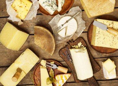 Carta da parati Vari tipi di formaggio