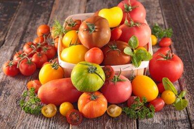 Carta da parati varietà di pomodori