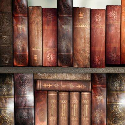 Carta da parati Vecchi libri, biblioteca