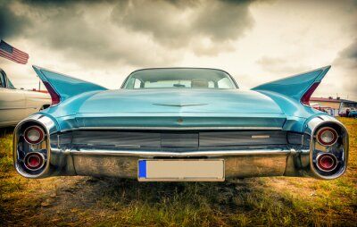 Carta da parati Vecchia automobile americana in stile vintage