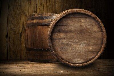 Carta da parati vecchia botte di legno