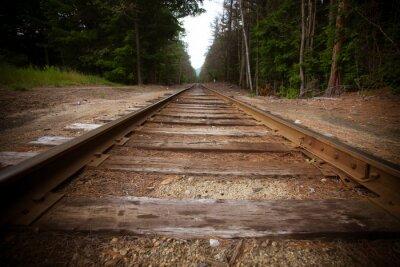 Carta da parati Vecchia ferrovia con effetto texture vintage