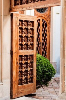 Carta da parati Vecchia porta di legno