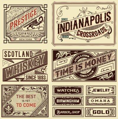 Carta da parati Vecchia pubblicità disegni - illustrazione d'epoca