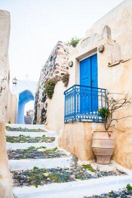 Carta da parati Vecchia via nel villaggio di Pyrgos