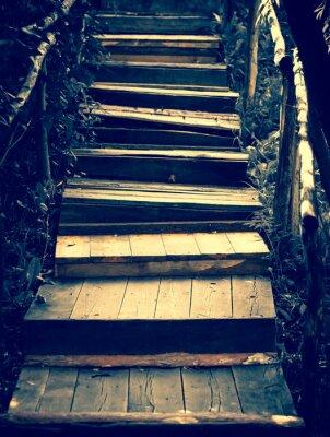 Carta da parati Vecchie scale di legno