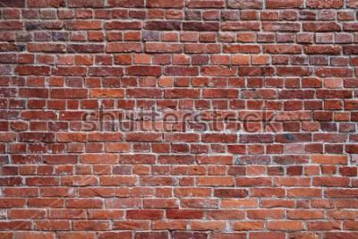 Carta da parati vecchio fondo di struttura del muro di mattoni rossi