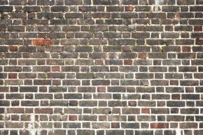 Carta da parati Vecchio grande intemperie afflitto muro di mattoni rossi sfondo